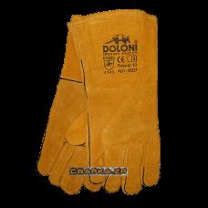 Краги сварочные Doloni (спилковые желтые)